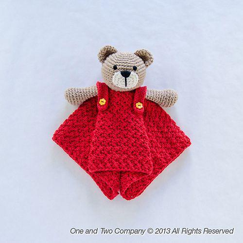 Ravelry: Teddy Bear Security Blanket pattern by Carolina Guzman.So cute!