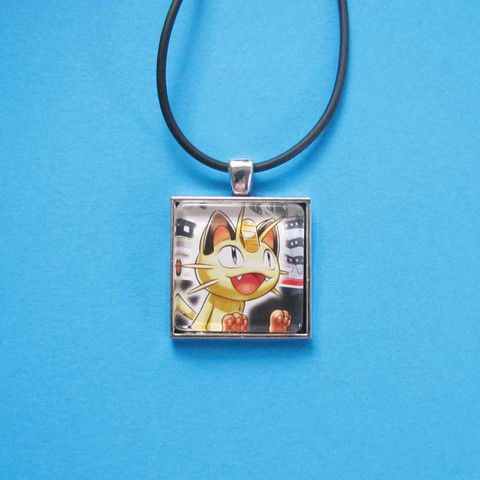 Pokemon Pendant - Meowth only $8 @ OMG! Cute Kitten - Australian Handmade Jewellery