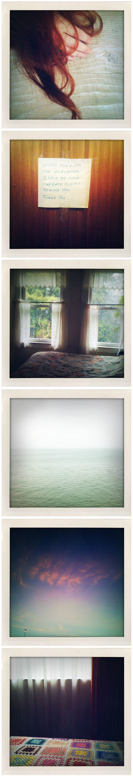 """Lovely old polaroids, right? No. They are, in fact, 'the evolution of polaroid'. San Francisco based photographer Lisa Wiseman used her iPhone to capture all of these vintage-not-really-vintage-at-all images… and I love them.  thejealouscurator.com"