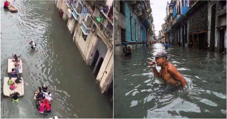 Más imágenes de La Habana tras el paso de Irma (FOTOS+VIDEO) #DeCubayloscubanos #cuba #huracánIrma #inundaciones #LaHabana
