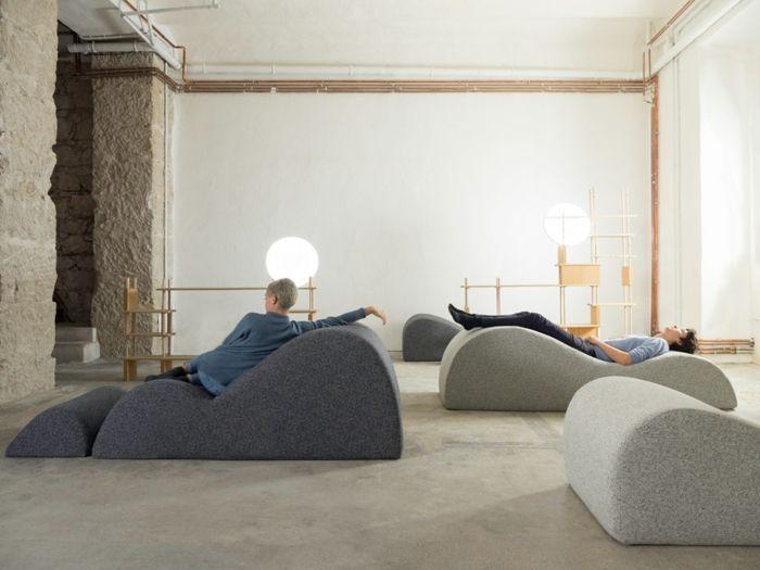Daybed Chaise Lounge Sofa Pouf Franzsische Mbel Design Ergonomische Liegen Polstermbel Kissen Fusshocker