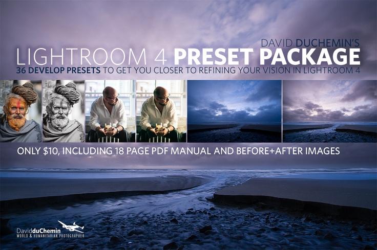 Lightroom 4 Preset Package - David duChemin $10
