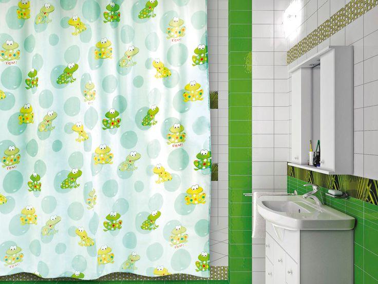 VERRAN Toadland - занавеска для ванной комнаты из ткани 180x180 см. Цена 360р. Посмотреть на сайте: http://likemyhome.ru/catalog/shtorki-karnizy-kolca/00002072 #likemyhome #showercurtain #bathroomdecor #interiorstyle #verran #toadland