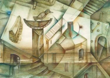 In Province by Eugene Ivanov, watercolor on paper, 29 X 41 cm, $450. #eugeneivanov #@eugene_1_ivanov #modern #original #oil #watercolor #painting #sale #art_for_sale #original_art_for_sale #modern_art_for_sale #canvas_art_for_sale #art_for_sale_artworks #art_for_sale_water_colors #art_for_sale_artist #art_for_sale_eugene_ivanov