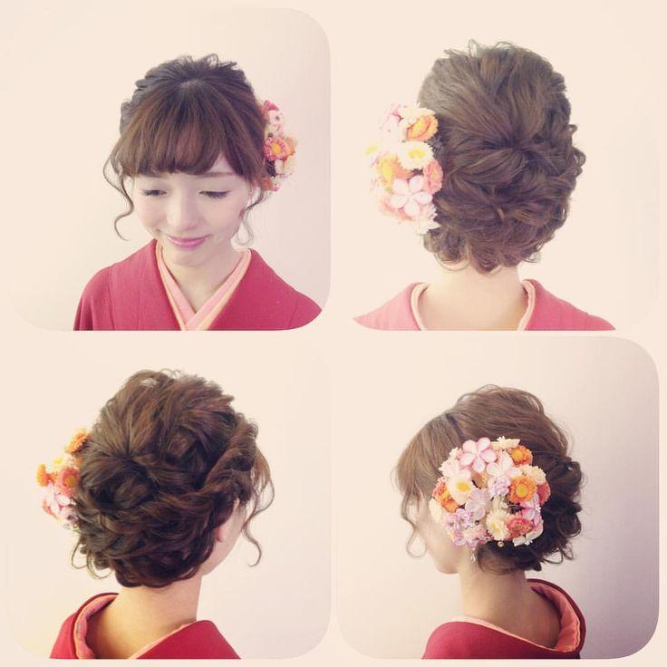 いいね!54件、コメント1件 ― ムエベさん(@muebe2007)のInstagramアカウント: 「かわいらしく和装を着たい方にオススメのヘアスタイル♡ ♡Stylist Sakurai♡…」