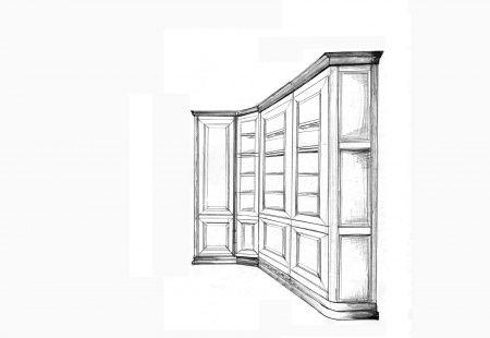 Projekt gabinetu z litego drewna od Ludwik Filip z Poznania. http://superstolarz.pl #meblekuchenne #stolarz #meble #design  #meblebiurowe #design #cool #life #photo #polska #homebook #home #kitchen #kuchnia #warszawa