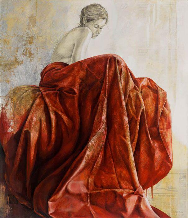 """""""Silencio, Plegaria, Adoración"""": Pintura de Maria Jose Tera"""