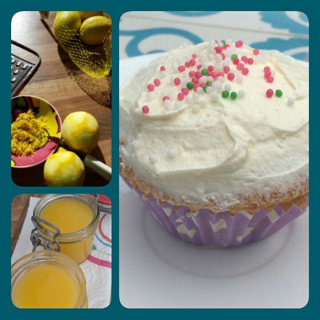 Lekker en leuk!: Gevulde lemoncurd cupcake
