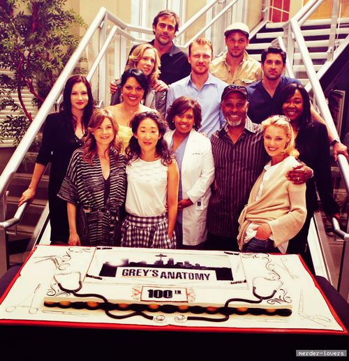 Greys Anatomy Cast on episode 100 (episode 22, season 5)