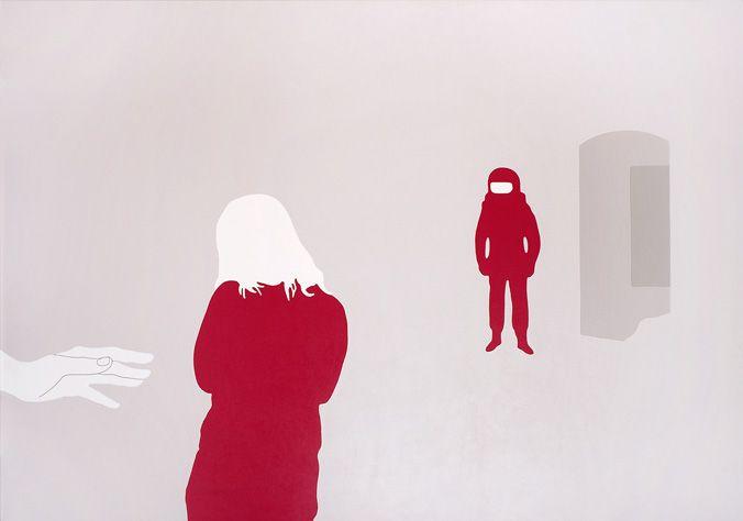 Agata Bogacka - Agata, 2005, akryl na plotnie, 114 x 162 cm