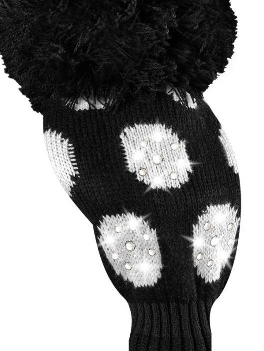 Check out what #lorisgolfshoppe  has for your days on the golf course! Just4Golf Sparkle Large Dot Driver Golf Headcover - Brilliant Black (Black and White)