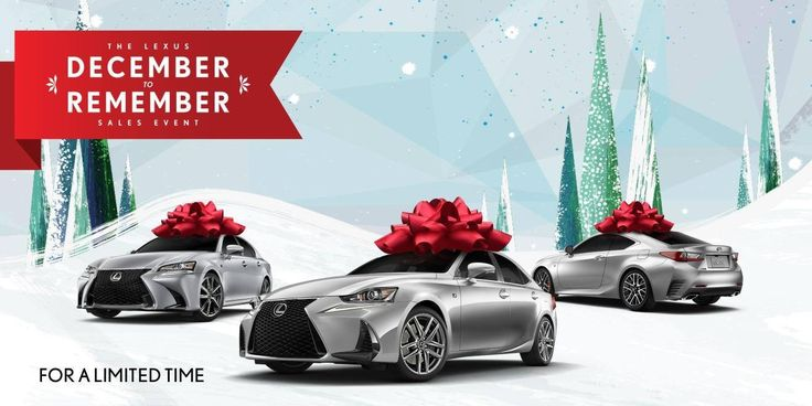 What is December to Remember Sales Event? It means great incentives and incredible deals on 2017 & 2018 Lexus models. Get pre-approved now!   DCH Lexus of Oxnard 1640 Auto Center Drive Oxnard, CA 93036 Sales & Service (805)988-8500 Parts (805)988-8542 Www.dchlexusofoxnard.com