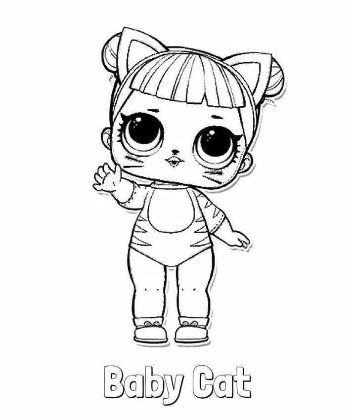 Раскраски для детей куклы лол | Раскраски, Детские ...