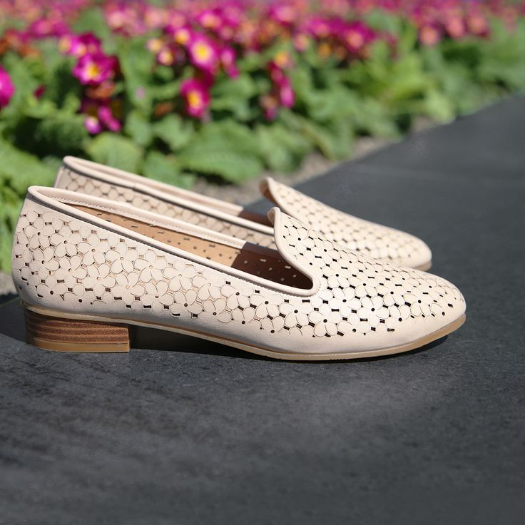 PERFORATED PERFECTION 🌺 Make beautiful memories with the Chaussure 'Alice' daisy punched loafers. Shop now: http://tinyurl.com/zm3p9uc