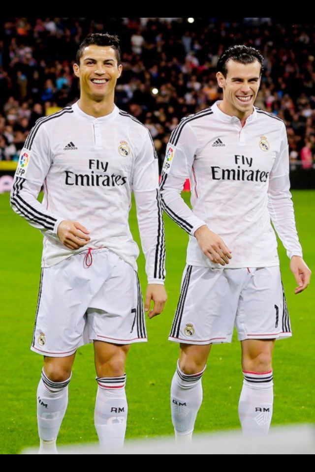 Cristiano and Bale, harmony at Real Madrid. But FC Barcelona is catching up! Can Real Madrid maintain their La Liga top spot or will they be ousted by Messi, Neymar, Suarez and co? Show your pride with a Real Madrid football shirt, order at www.soccerbox.com use coupon MEGA15P before 31/1/2015 to get a massive 15% off your entire order!