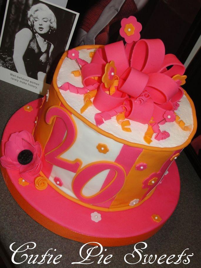 20th Birthday Cake Cakes Cupcakes Pinterest 20th Birthday