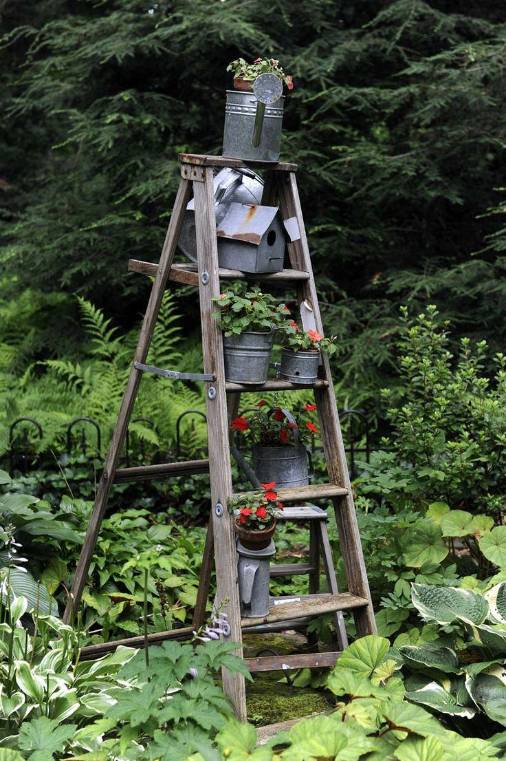 25 Beautiful Garden Ladder Ideas On Pinterest Old