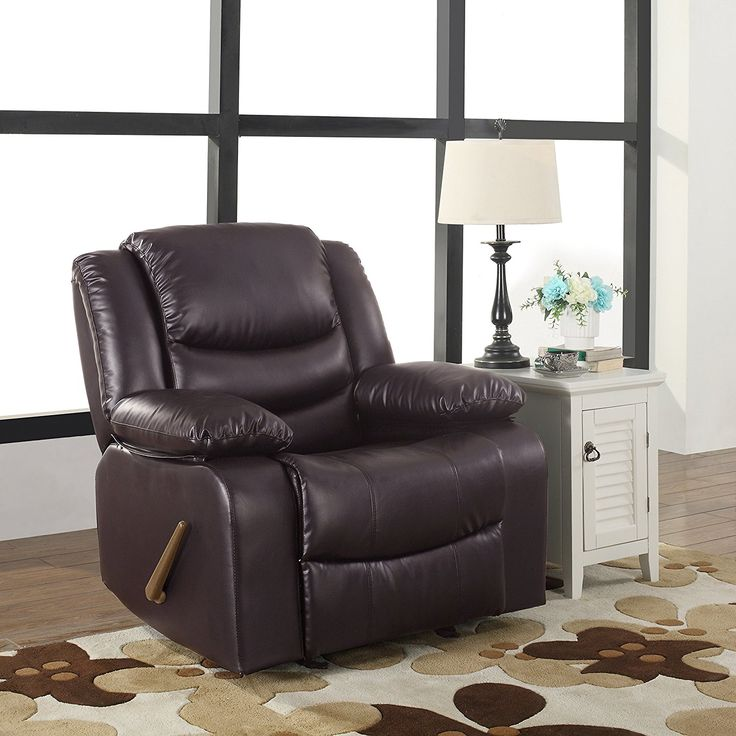 Bonded Leather Rocker Recliner Chair #chair, #durable, #furniture, #leather