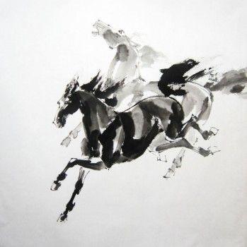 Лошадь -  символ достижения задуманного, процветания и любви. Наиболее благоприятным считается изображение лошади, стремительно и уверенно бегущей вперед. Лошадь также ассоциируется с силой и скоростью, оптимизмом, радостью жизни, доброй славой, выносливостью и упорством. Она - вечное движение.