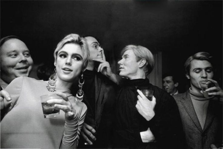 STEVE SCHAPIRO   Andy Warhol, Edie Sedgwick and Entourage, New York 1965