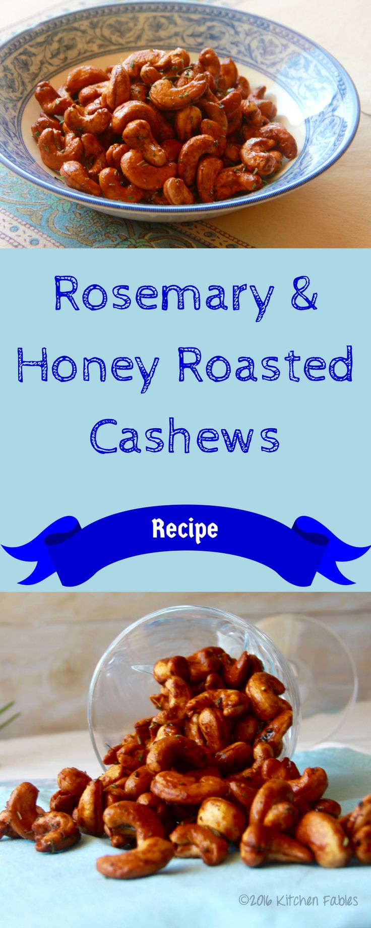 Rosemary & Honey Roasted Cashews Recipe for Rosemary & Honey Roasted Cashews.  Roasted nuts are a good option to serve or to gift  during festival season