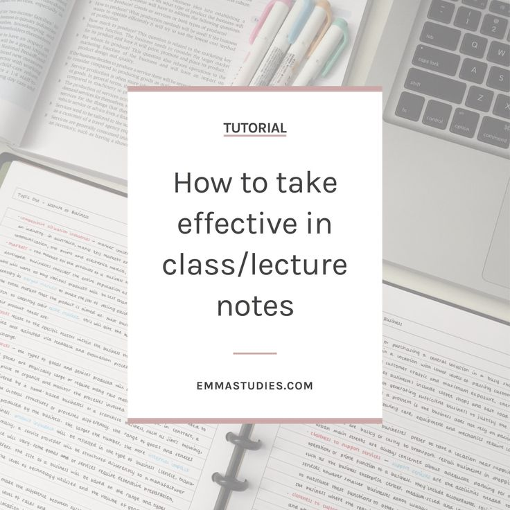 How to take class and lecture notes