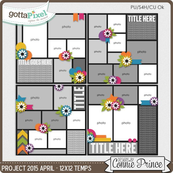 551 best digital scrapbook templates images on pinterest digita scrapbook templates project 2015 april from designs by connie prince pronofoot35fo Gallery
