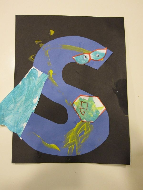 Letter of the week S -Super Hero Craft