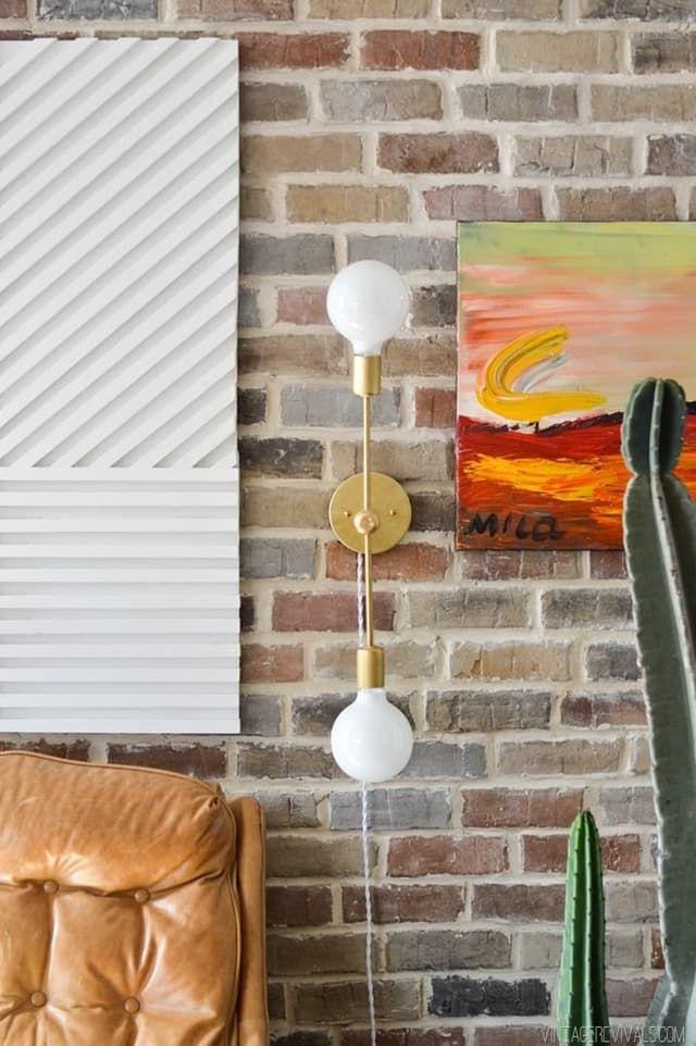12 DIYs de iluminação que se parecem com um milhão de dólares | Apartment Therapy