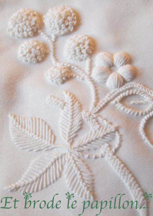 could do a set of white sheets with hand embroidery in white at the top edge and along the pillow case edges