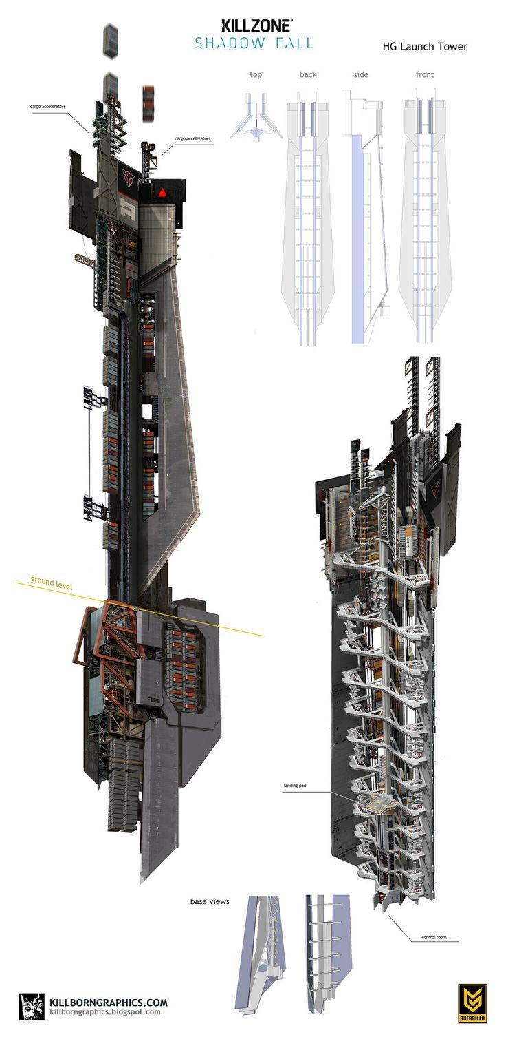 ArtStation - Helghast Launch Tower, Simon Robert | The Art ...