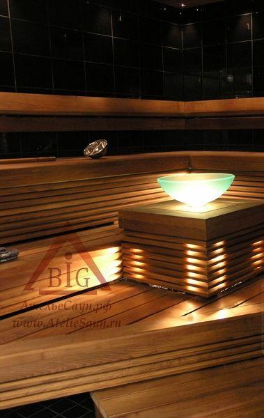 Шайка для сауны Cariitti IB320 с клапаном (1545221, со светодиодной подсветкой)