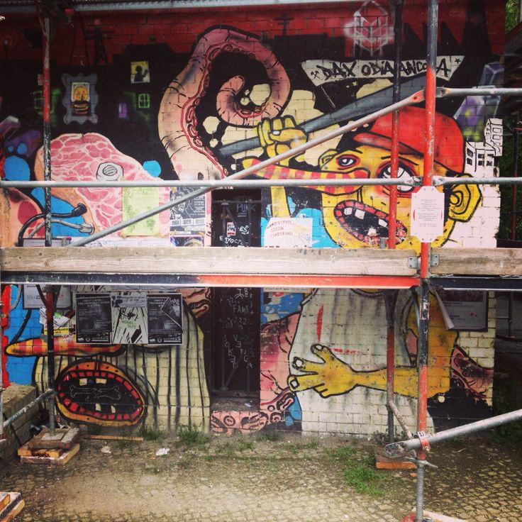 Squat house graffiti in Kreuzberg.