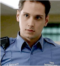 And here are some ridiculously cute GIFs. | For Everyone Who Is Physically Attracted To Corrections Officer Bennett