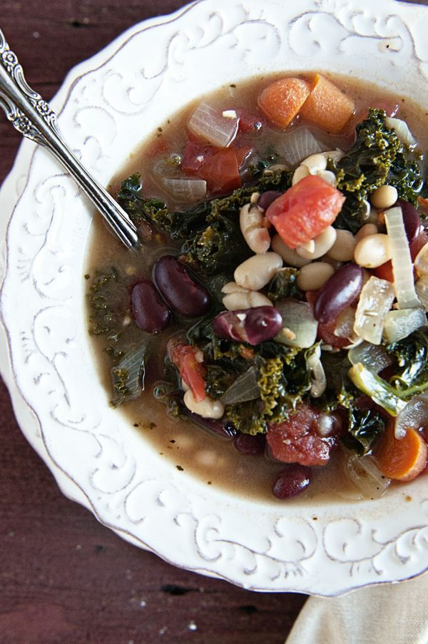 Healthy Bean Kale Soup - healthy option with a powerhouse of flavor.