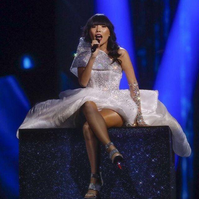 Dami Im, Australia: Eurovision 2016. Dress by Steven Khalil. https://www.instagram.com/p/BFUiJYDMFGE/