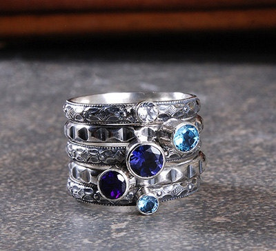 CREATE YOUR OWN CUSTOM STACKABLE GEMSTONE RINGS