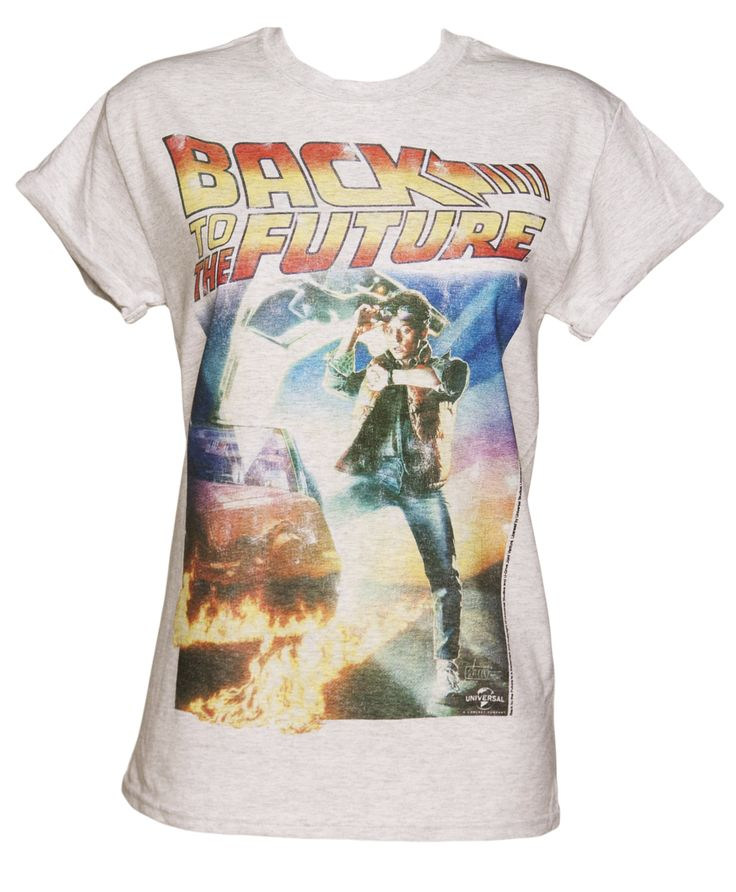 Ladies Back to the Future #Movie #Poster Rolled Sleeve Boyfriend T-Shirt from TruffleShuffle xoxo