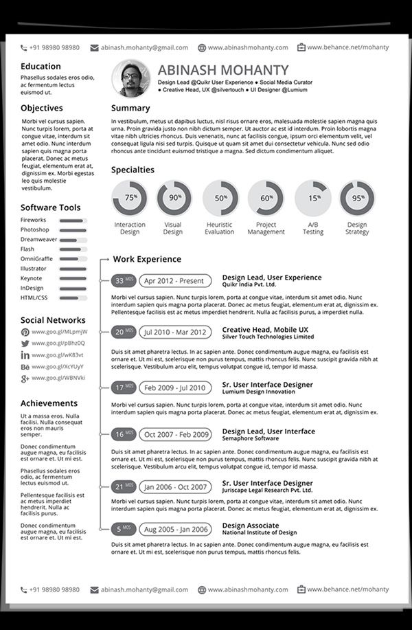 36 best resume images on Pinterest Resume design, Curriculum and - difference between cv and resume