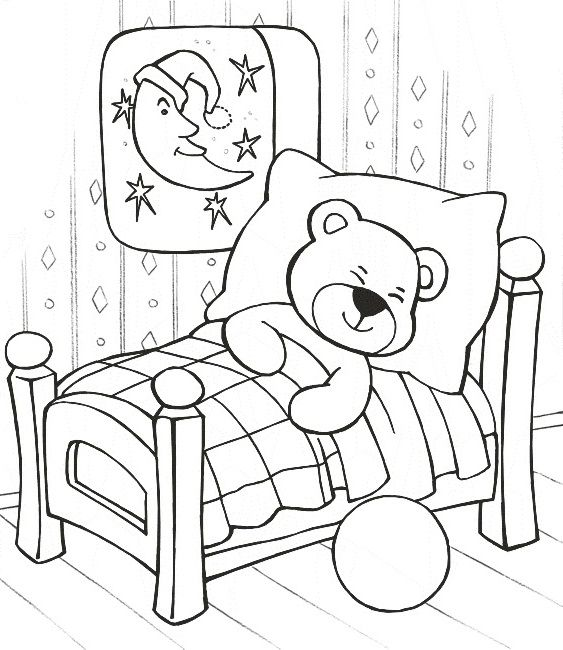 teddy bear sleeping coloring pages teddy bear coloring pages kidsdrawing free coloring pages online - Coloring Pages Kid