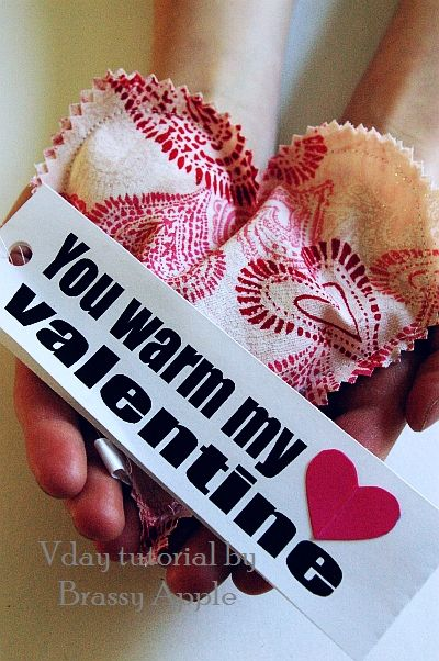 Valentine warmmies- I love this for the hubs.