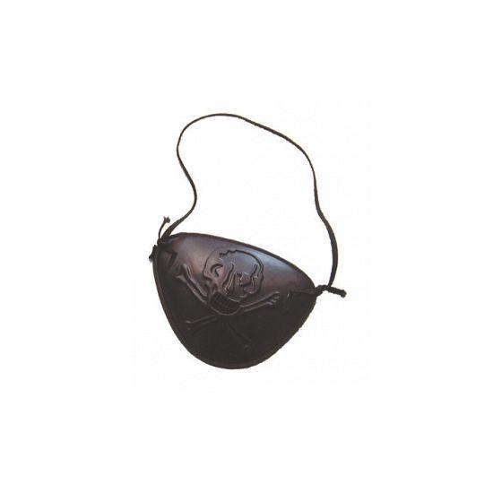 Zwart ooglapje. Aan het oogkapje zit een elastiek om hem aan het hoofd te bevestigen. materiaal: buigzaam plastic. Piraten versiering en feestartikelen leveren wij snel uit voorraad.