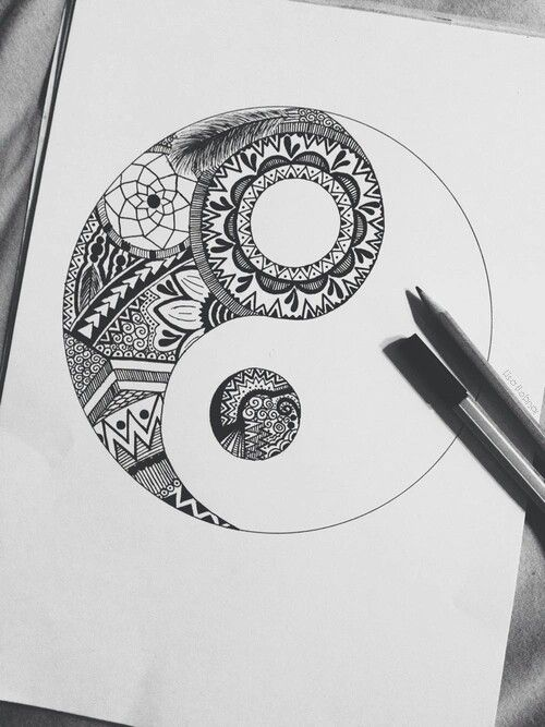 Gorgeous.. ying yang mandala tattoo, tattoo drawing
