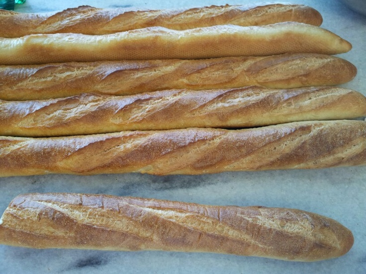 French Baguettes with a poolish (13oz)