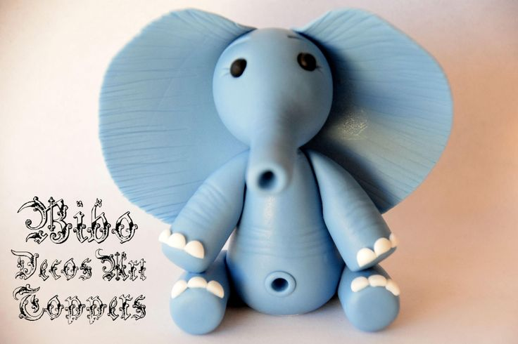 Edible 3D Elephant Cakes Decoration Fondant Topper , Birthday Cake Topper by BiboDecosArtToppers on Etsy