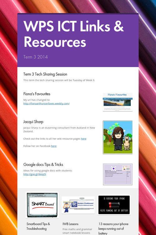 WPS ICT Links & Resources