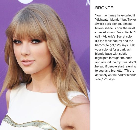 The 9 Sexiest Hair-Color Ideas For Blondes | #9 Taylor Swift