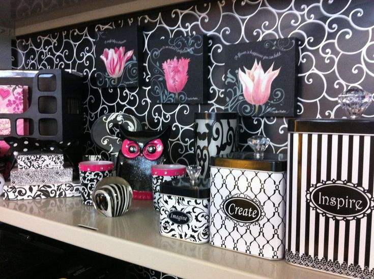 Pink Cubicle Birthday Decorations And Black