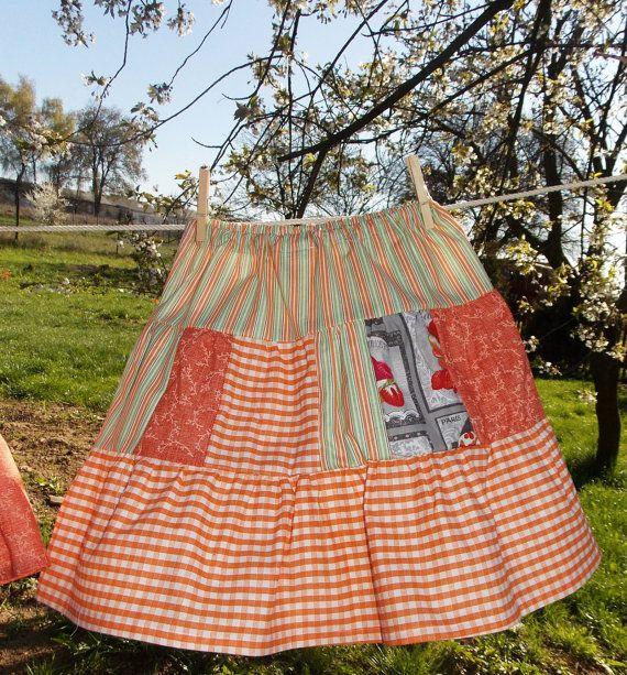 Joan Vilem Boutique Girl Skirt  Red Plaid by AtelierJoanVilem