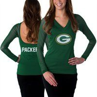 Green Bay Packers Ladies Fashion Long Sleeve V-Neck Halter Top!